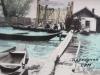 Проходная СРМ.1960-гг. Наводнение, у проходной лодки-тоболки рабочих приехавших на производство.