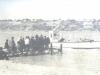 Переправа. На мостках рабочие РЭБ флота проживающие в Черлаке. 1960-гг.