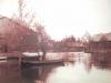 Сибирская Венеция. Наводнение в Затоне. На первом плане здание клуба.1960-гг.